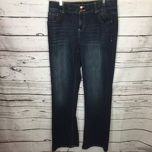 Lane Bryant t3 slimming 16 long jeans